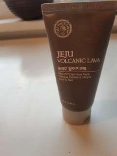 THE FACE SHOP JEJU VOLCANIC LAVA PEEL OFF NOSE MASK