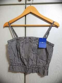 🚚 Gingham Crop Top - Brand New With Tag #SpringCleanAndCarousell50