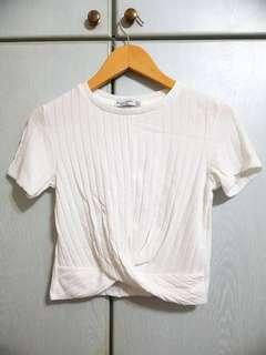 🚚 Bershka Twisted Front Knit Crop Top - BRAND NEW NOT WORN