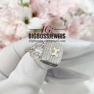 9fe6845776ec 925 Silver Diamond Like Bling Crystals Constance Bag Charm Necklace Chain