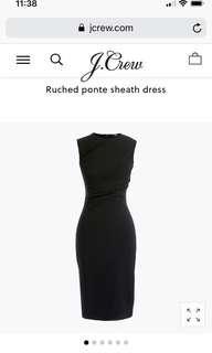 JCrew brand new never worn black dress size 4