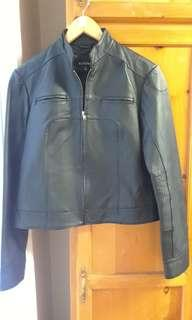 Le Chateau 100% Black Leather Jacket. Size medium...in superb condition