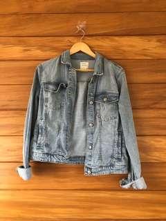 BERSHKA denim jacket size L