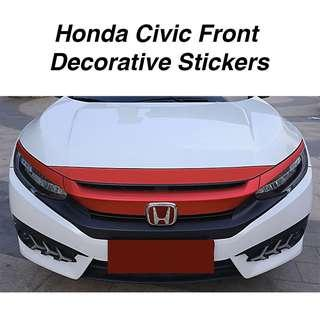 Honda Civic FC Front Hood Decorative Stickers