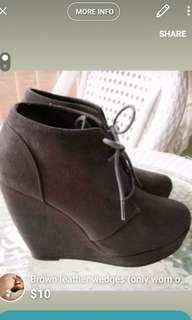 Grey Size 8 Women's Wedges