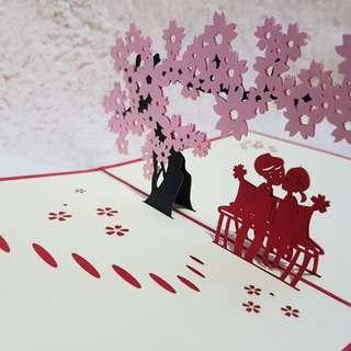 🚚 Sakura Tree Valentine's Pop Up Cards