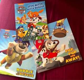 🚚 Paw Patrol books for sale. All 3 books for $4