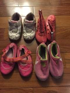 5 Pairs Girl's Shoes Size 8+9