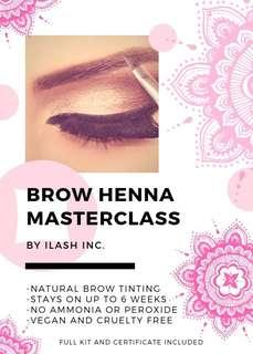 ✨✨BROW HENNA & DESIGN CERTIFICATION!✨✨INCLUDES FULL KIT FOR 80 CLIENTS!!!✨✨