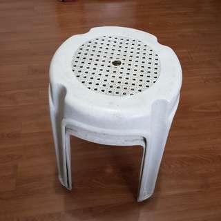 Two Monobloc stools