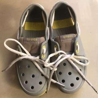 NEW CROCS Little Kids' Beach Boys Girls Lace Boat Shoes
