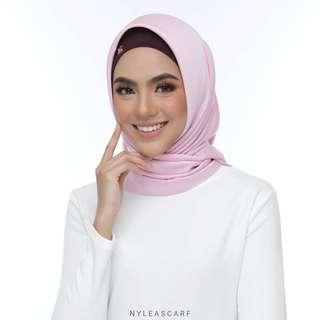 🚚 Musalmah Square Shawl by Nyleascarf - Rose Petal