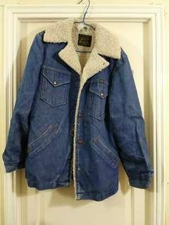 Wrangler Denim Jacket lee levis 古著 made in usa
