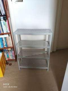 Grey 4 Layer Plastic Shelving