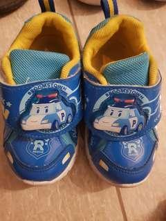 Kids shoe with lights - poli car