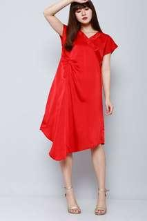 ASAGO RED LUCKY DRESS