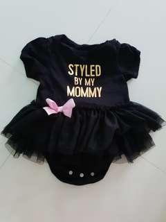 🚚 Black Cotton TuTu Dress 6-9 months