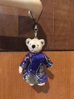 #CNY2019 Gantungan kunci Teddy bear cheongsam