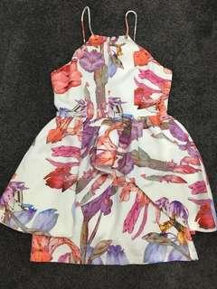 Floral Print Party Dress Size 8