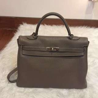 "Authentic Hermes Kelly 35"" Togo"