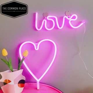 INSTOCK Valentines Pink 'LOVE' Neon LED Light Home Decor