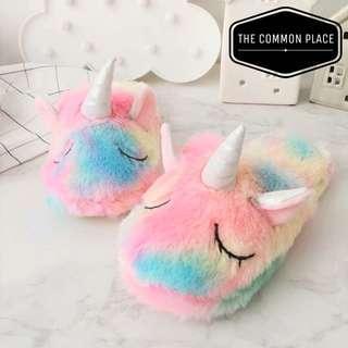 🚚 INSTOCK Rainbow Unicorn Bedroom Home Slippers Valentines Gift Idea