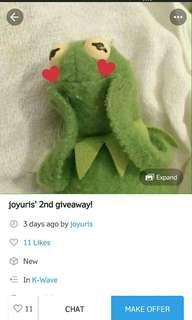 giveaway repost @joyuri