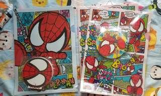全新SpiderMan蜘蛛俠file 連簿仔套裝 set