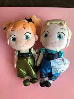 Frozen Elsa & Anna stuffed doll set