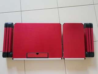 Wine Red Adjustable Laptop Stand