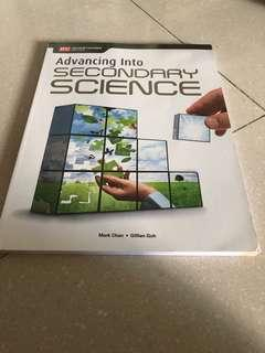 Advancing into Secondary Science Textbook