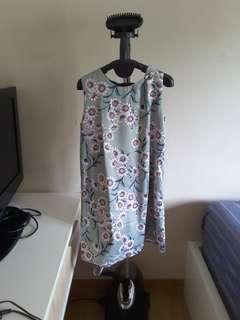 Flower dress paatel green
