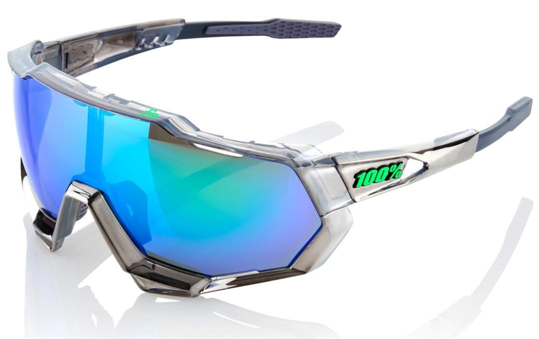 100% Speedtrap Chrome Gunmetal w/ Green Multi-layered Lens Peter Sagan Limited Edition