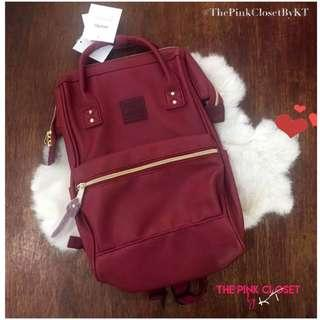 ANELLO Red Leather Backpack