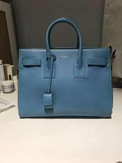 CLASSIC YSL SAC DE JOUR SMALL IN BABY BLUE LEATHER