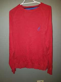 Mens Small red Nautica Sweater