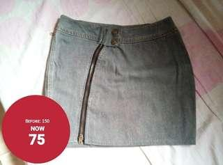 Denim Grey Skirt