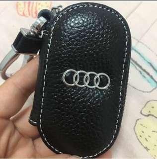 🚚 真皮奧迪汽車小零錢包鑰匙包