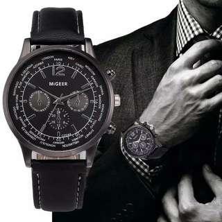 Jam tangan pria kulit ada 3 warna murah baru