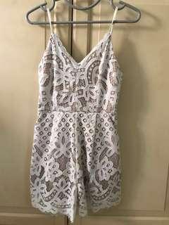 Lacy crotchet dress romper