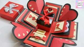 Explosion box for valentines day