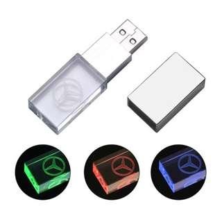 🚚 Mercedes Crystal Light Up Thumbdrive (16 GB)