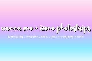 🚚 wanna one and izone photostrips