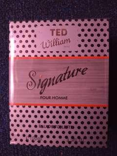 new TED WILLIAM parfum Original 100%