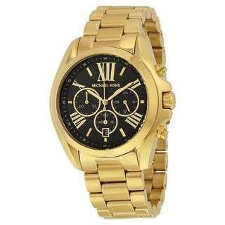 Authentic Michael Kors Gold Tone Stainless Steel Watch (MK5739)