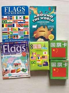 🚚 Flags books and flag cards