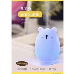 USB 迷你卡通熊加濕器 香薰空氣擴散氣