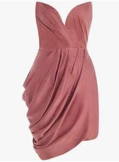 HIRE: Zimmermann Sueded Drape Bodice Rose - Size 0