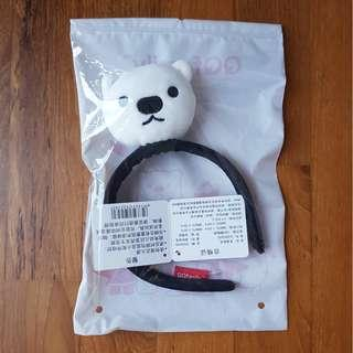 New Cute QQ Family Dov White Bear Hairband (Limited Edition Design from QQ Headquarters!!)