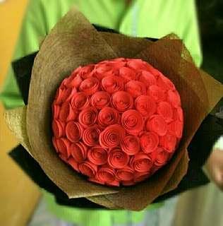 Buket Bunga Mawar La Vien En Rose